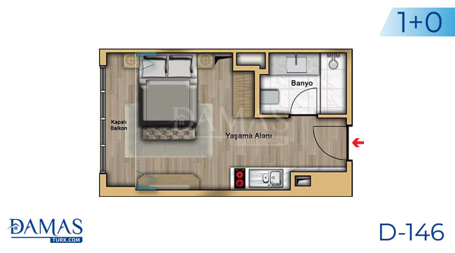 Damas Project D-146 in Istanbul - Floor plan picture 01