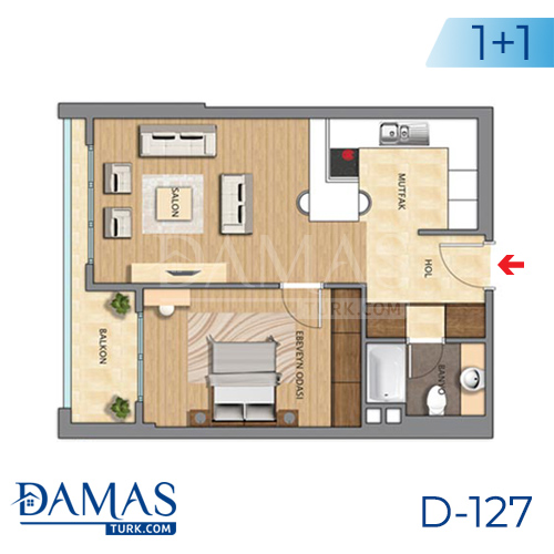 Damas Project D-127 in Istanbul - Floor plan picture 01