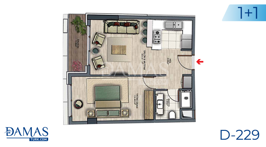 Damas Project D-229 in Istanbul - Floor plan picture  01