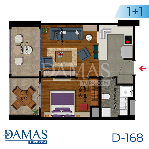 Damas Project D-168 in Istanbul - Floor plan picture  01