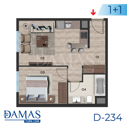 Damas Project D-234 in Istanbul - Floor plan picture  01