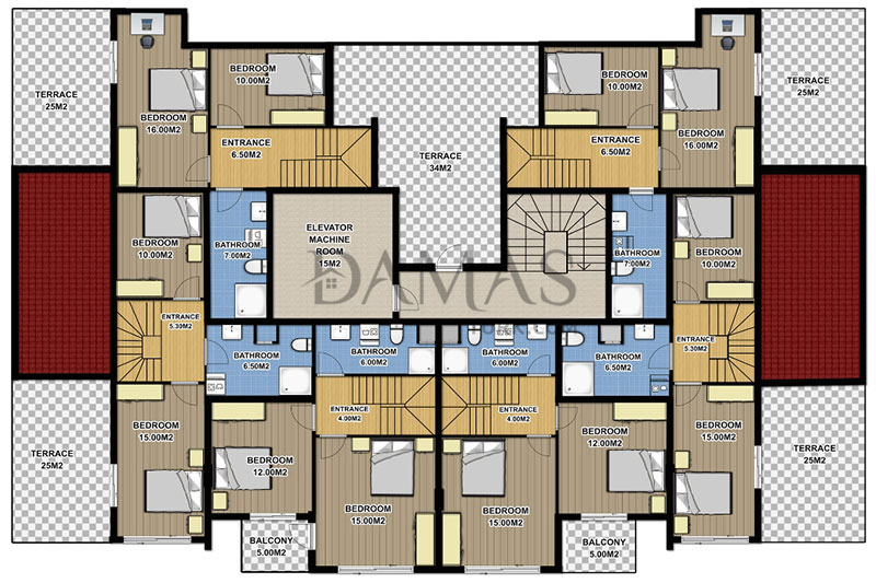 Damas 604 Project in Antalya -  Floor Plan 01