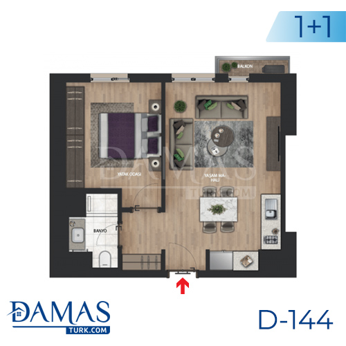 Damas Project D-144 in Istanbul - Floor plan picture 01