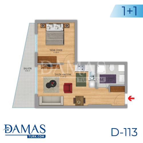 Damas Project D-112 in Istanbul - Floor plan picture 01