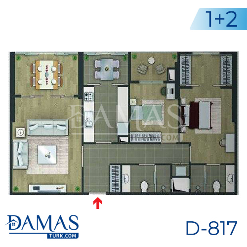 Damas Project D-817 in Istanbul - floor plan picture 01