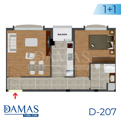 Damas Project D-207 in Istanbul - Floor plan picture  01
