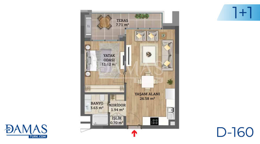 Damas Project D-160 in Istanbul - Floor plan picture 01