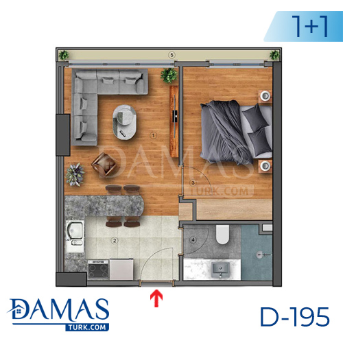 Damas Project D-195 in Istanbul - Floor plan picture  01