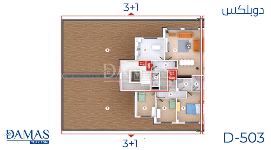 Damas Project D-503 in Kocaeli - Floor plan picture  01