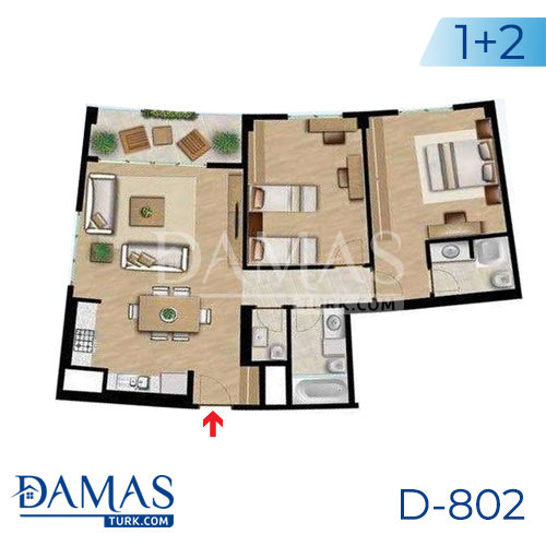 Damas Project D-802 in Istanbul - Floor plan picture 01