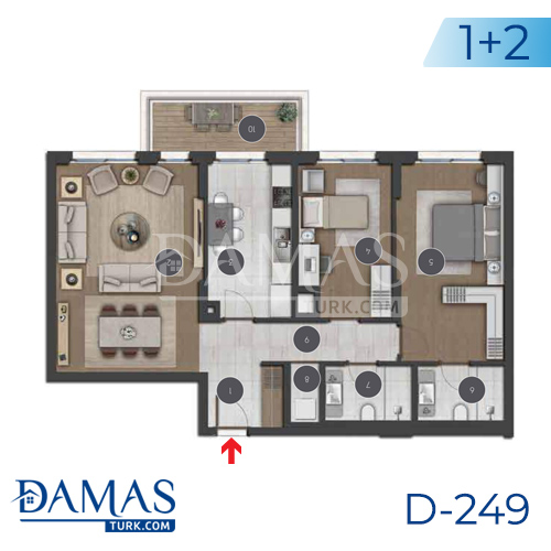 Damas Project D-249 in Istanbul - Floor plan picture 01