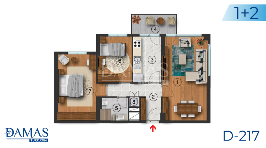 Damas Project D-217 in Istanbul - Floor plan picture  01