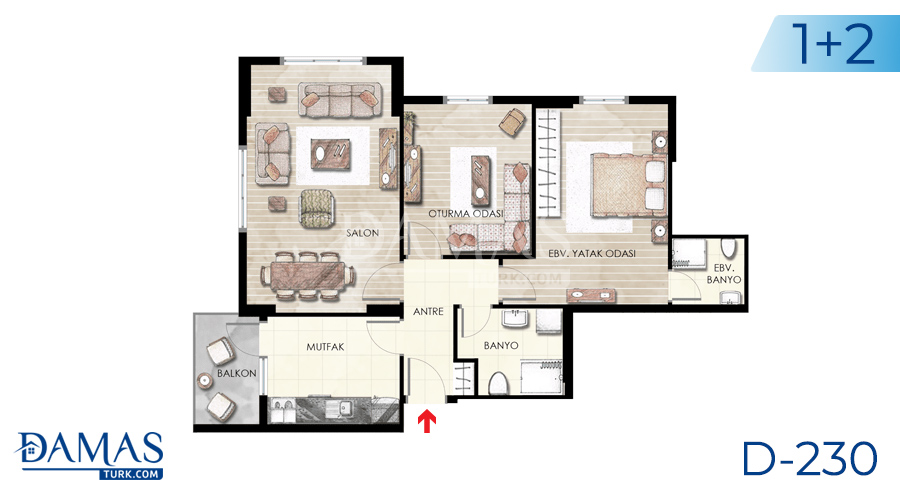 Damas Project D-230 in Istanbul - Floor plan picture  01