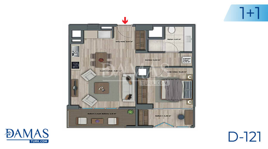Damas Project D-121 in Istanbul - Floor plan picture 01