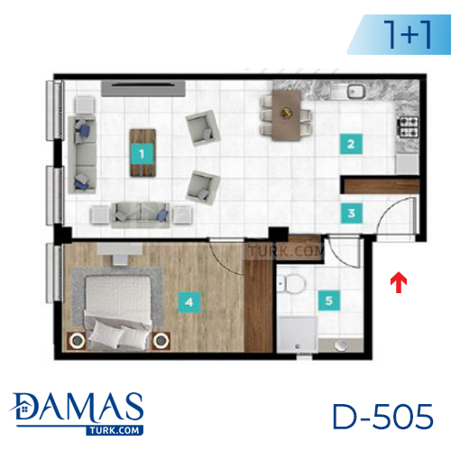 Damas Project D-505 in kocaeli - Floor plan picture  01