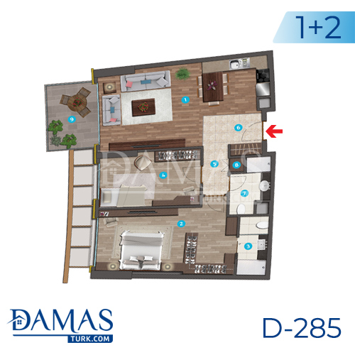 Damas Project D-285 in Istanbul - Floor plan picture 01