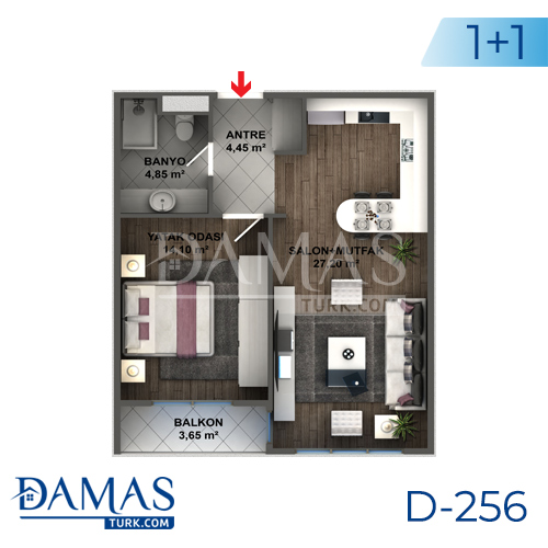 Damas Project D-256 in Istanbul - Floor plan picture 01