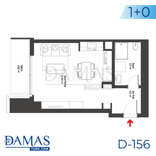 Damas Project D-156 in Istanbul - Floor plan picture 01