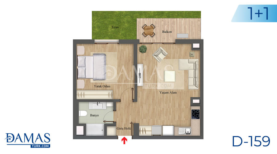 Damas Project D-159 in Istanbul - Floor plan picture 01