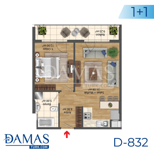 Damas Project D-832 in Istanbul - Floor Plan picture 01