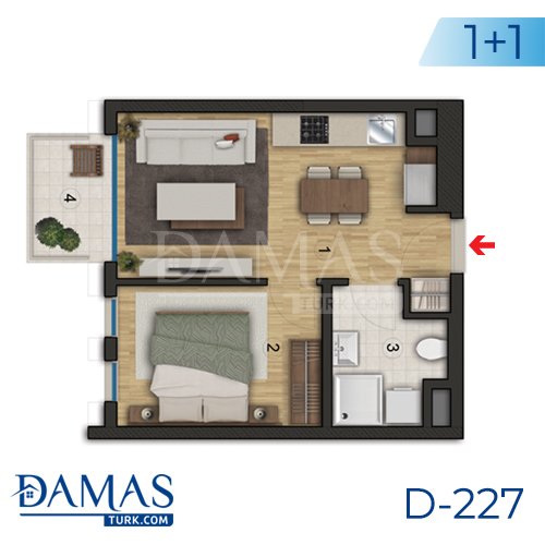 Damas Project D-227 in Istanbul - Floor plan picture  01