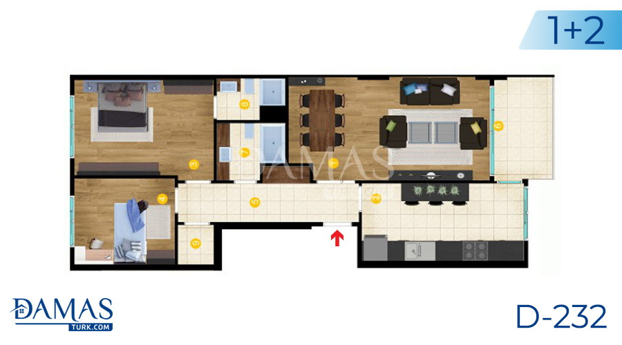 Damas Project D-232 in Istanbul - Floor Plan picture  01