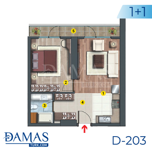 Damas Project D-203 in Istanbul - Floor plan picture  01