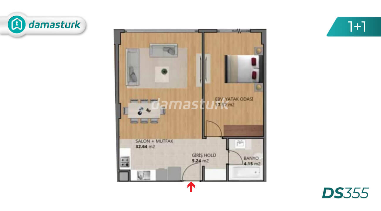 Apartments for sale in Turkey - Istanbul - the complex DS355 || damasturk Real Estate Company 01