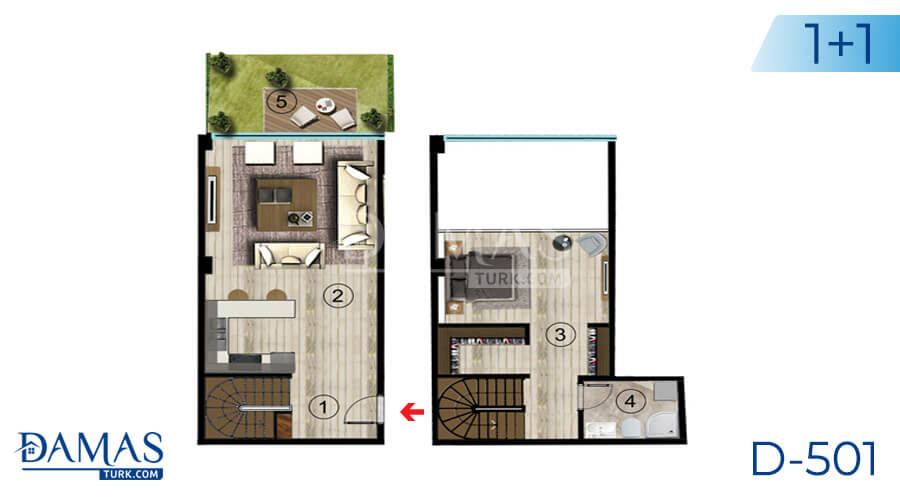 Damas Project D-501 in Kocaeli - Floor plan picture  01