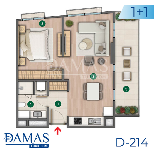 Damas Project D-214 in Istanbul - Floor plan picture  01