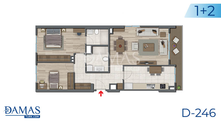 Damas Project D-246 in Istanbul - Floor plan picture 01