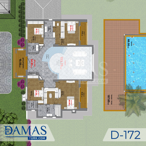 Damas Project D-172 in Istanbul -Floor plan picture  01