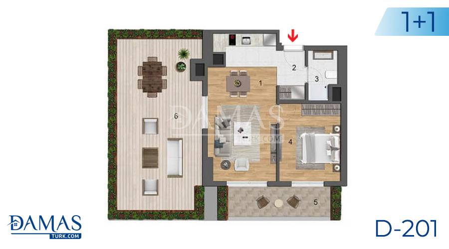 Damas Project D-201 in Istanbul - Floor plan picture  01