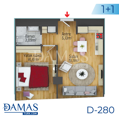 Damas Project D-280 in Istanbul - Floor plan picture 01