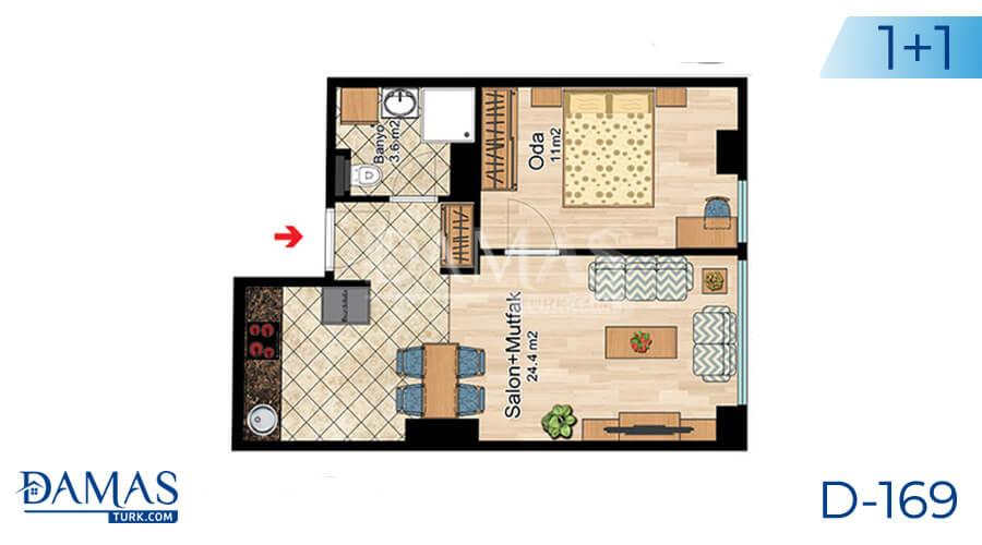 Damas Project D-169 in Istanbul -Floor plan picture  01