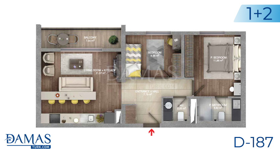 Damas Project D-187 in Istanbul - Floor plan picture  01