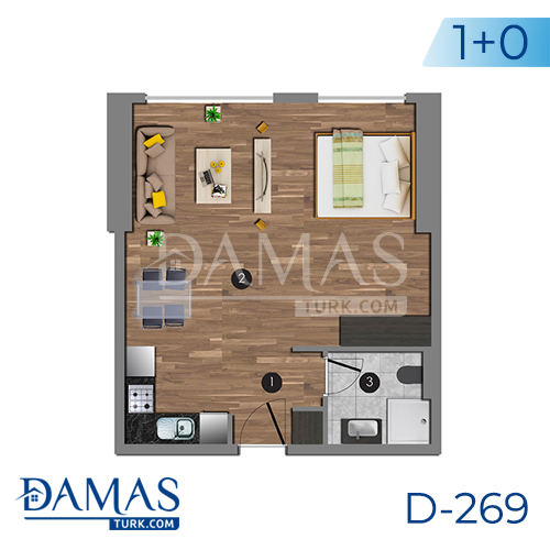 Damas Project D-270 in Istanbul - Floor plan picture 01