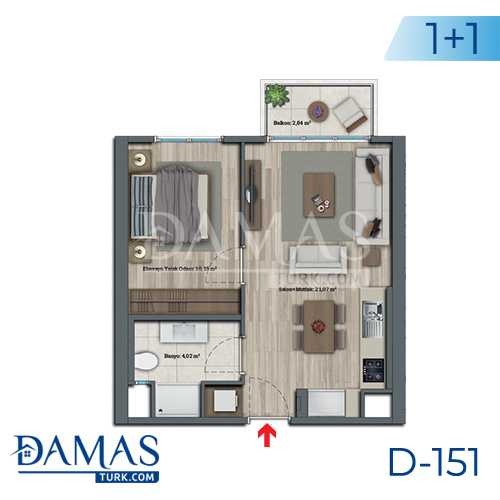Damas Project D-151 in Istanbul - Floor plan picture 01