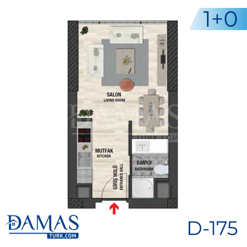 Damas Project D-175 in Istanbul - Floor plan picture  01