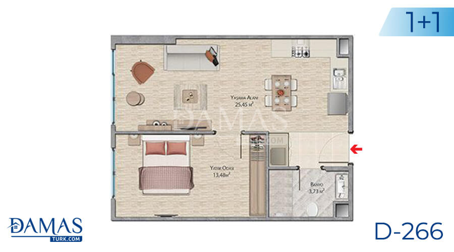 Damas Project D-266 in Istanbul - Floor plan picture 01