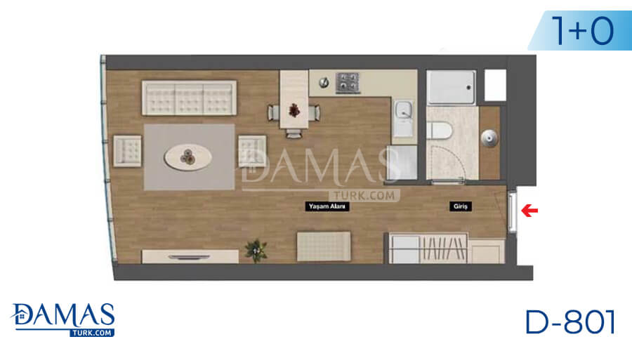 Damas Project D-801 in Istanbul - Floor plan picture 01