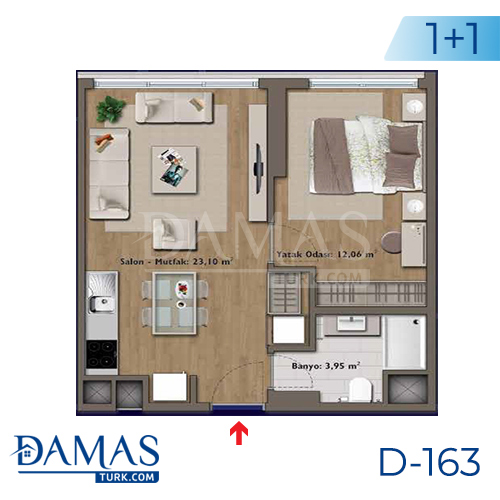 Damas Project D-163 in Istanbul - Floor plan picture 01