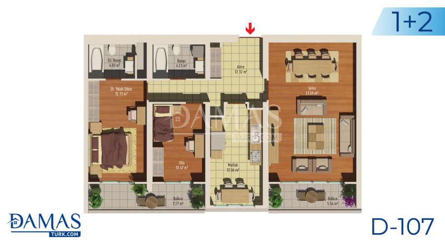 Damas Project D-107 in Istanbul - Floor plan picture 01