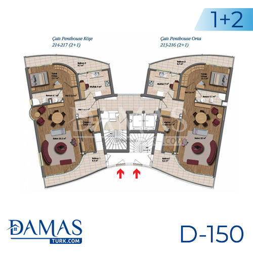 Damas Project D-150 in Istanbul - Floor plan picture 01