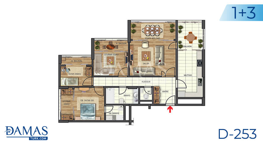 Damas Project D-253 in Istanbul - Floor plan picture 01