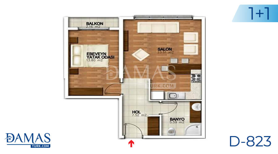 Damas Project D-823 in Istanbul - Floor plan picture 01