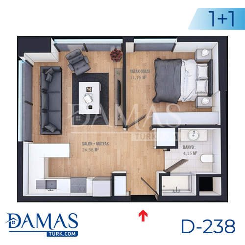 Damas Project D-238 in Istanbul - Floor plan picture  01