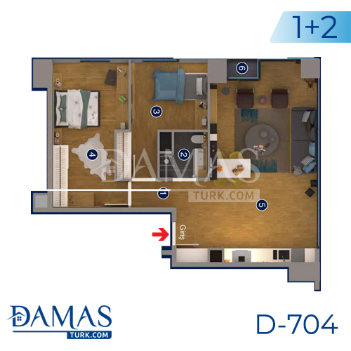 Damas Project D-705 in Ankara - Floor plan picture 01