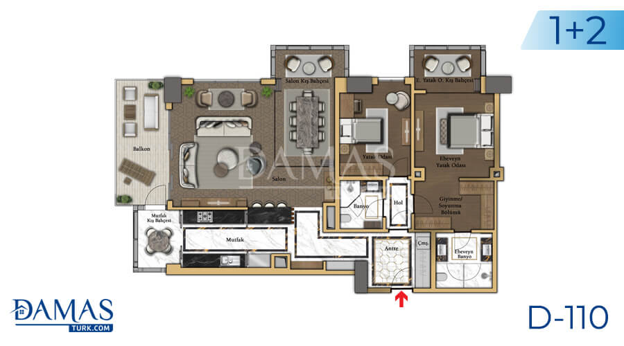 Damas Project D-110 in Istanbul - Floor plan picture 01