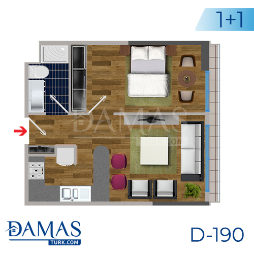 Damas Project D-190 in Istanbul - Floor plan picture  01